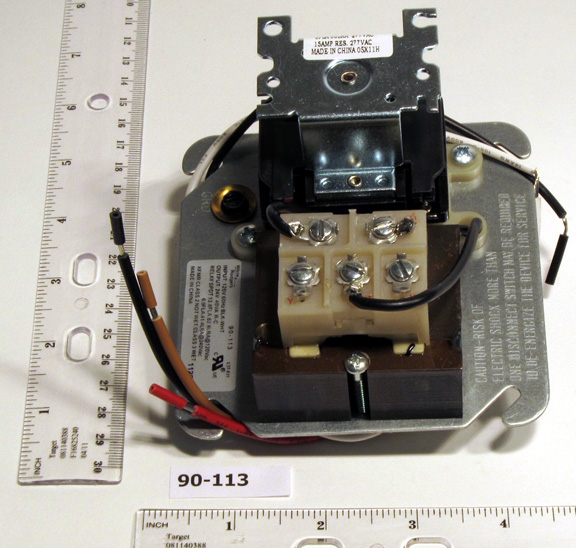RHEEM FURNACE PARTS 47-25089-03. Fan Center With Relay